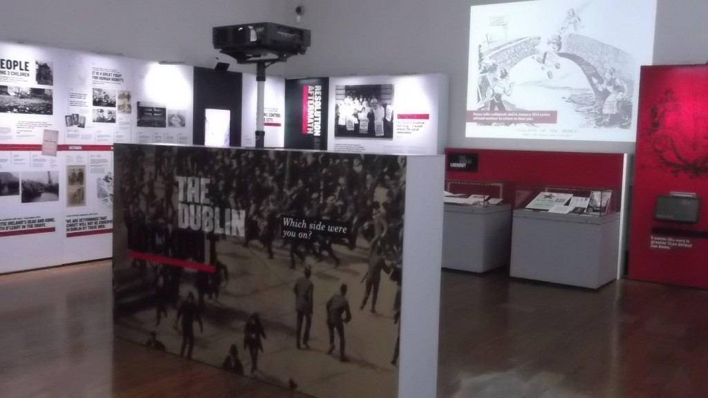 The Dublin Lockout Exhibit at the National Library of Ireland, audiovisual design supplied by Noho