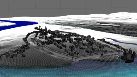 CG 3D imaging of the historical Derry-Londonderry, demonstrating the work in progress