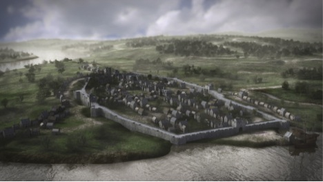 The 3D image of the map of Derry-Londonderry for Walk the Walls
