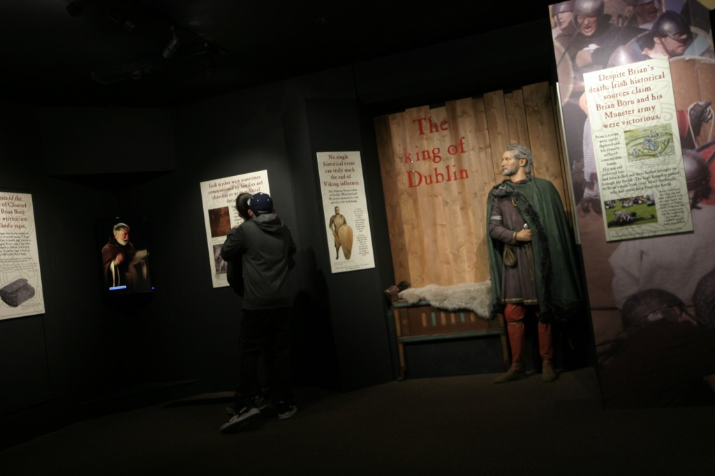 High King Brian Boru and our character vignette in Dublinia's new exhibition, The Battle for Dublin