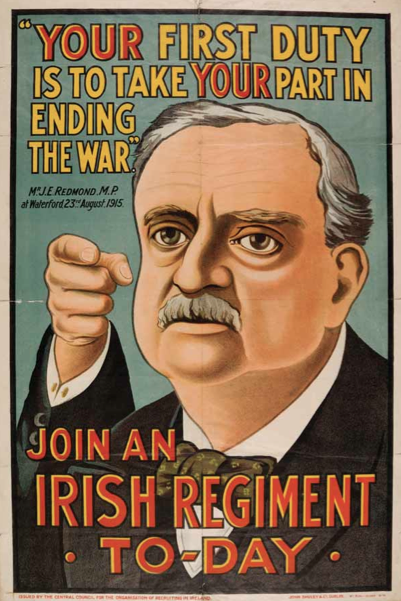 Join an Irish Regiment: Recruitment Poster from Ireland in the First World War