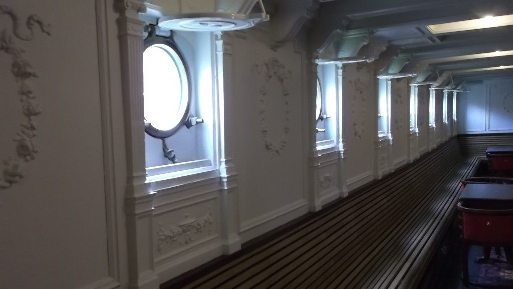 Portals and decorative pannelling onboard the SS Nomadic