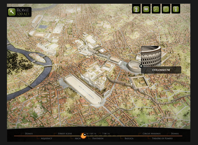 3D model of the ancient city of Rome